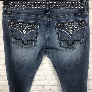 Miss Me Bootcut Jeans Anchorage Studs Stones 31